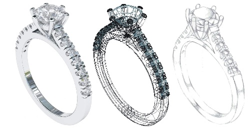 pave setting engagement ring designs